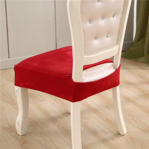 MAIAMY Spandex Abnehmbare Stuhlkissenbezug Samt Esszimmer Sitzbezug Elastische Weiche Komfortable Stuhlhussen