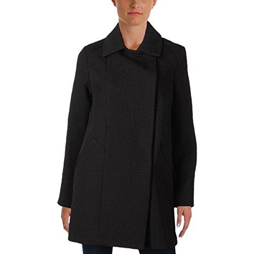 Eliza J Womens Jacquard Double Button Basic Coat