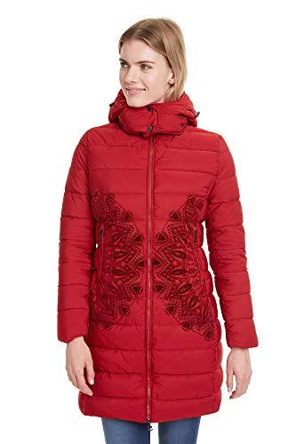 DESIGUAL Mandala Abrigos Mujeres Rojo - EU 40 - Plumas