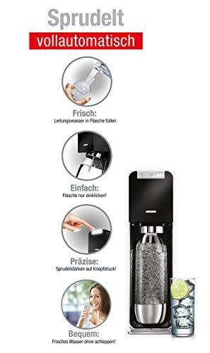 SodaStream POWER Elektronischer Wassersprudler, macht vollautomatisch aus Leitungswasser Sprudelwasser – ohne schleppen! mit 1 Zylinder und 1L PET Flasche (BPA frei); Farbe: schwarz - 4