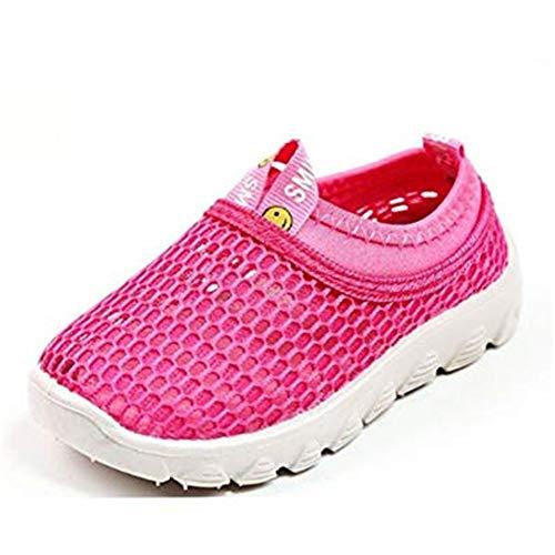 Lauflernschuhe Mädchen Jungen Sandalen Sommer Baby Mesh Sneaker Sportschuhe Laufschuhe rutschfest Hausschuhe Strandschuhe Kinder Rot Gelb Weiß Blau 19-36 Rot 20