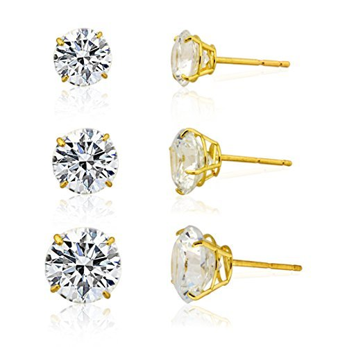 3-pair-10k-yellow-gold-round-cubic-zirconia-stud-earring-set6mm7mm-8mm-by-styles-by-breezy