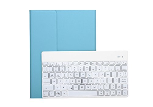 Ultradünne Aluminium 5 Farben hintergrundbeleuchtet Bluetooth Tastatur Case für iPad Air 2 Hintergrundbeleuchtung schwarz