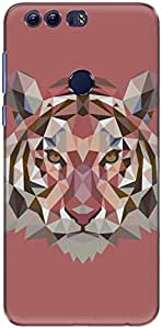 The Racoon Lean printed designer hard back mobile phone case cover for Huawei Honor 8. (Ruby Fract)