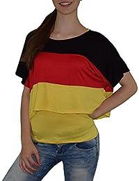 S&LU super angesagtes 2-teiliges Fan - Flag - Top Deutschland Italien Frankreich England Spanien USA Größe 34-40 (XS-L)