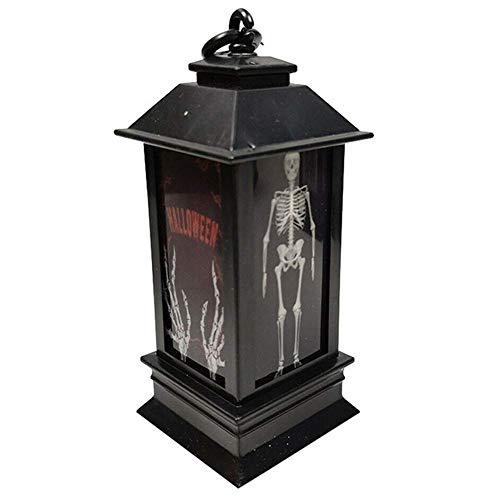 Einfache Beängstigend Kostüm - Honsin Gruselige Laternen-Halloween-Dekorations-Requisiten Glühendes Nachtlicht Lustig beängstigend