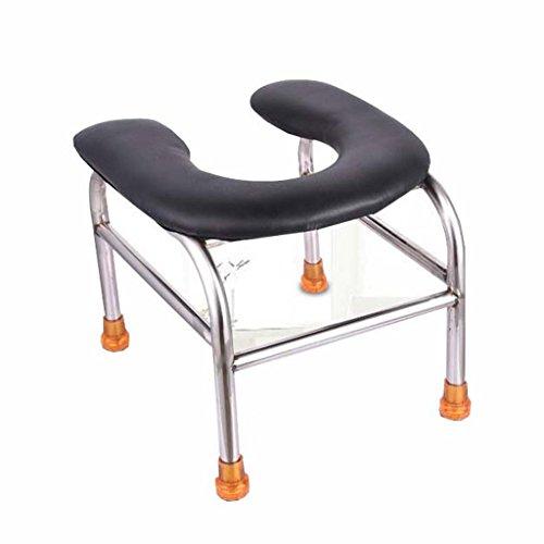 Bad Stuhl Guo Shop- Toilettenstuhl faltender Edelstahlältere schwangere Frauen, die Toilettensitz 30 * 33 * 31cm bewegen