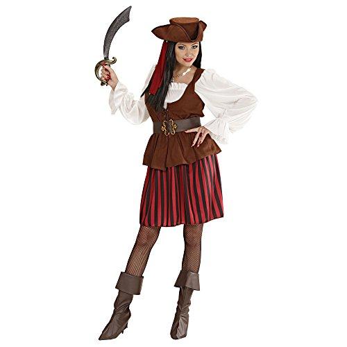 Widmann 44242 - Erwachsenenkostüm Piratenbraut, Größe M (Piraten-boot Erwachsene)