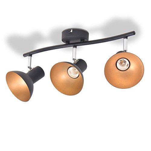 vidaXL Deckenleuchte für 3 Glühbirnen Deckenspot Deckenstrahler Deckenlampe