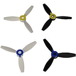 Parrot PF070221 - Hélices para dron Bebop 2, blancas y negras