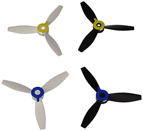 Parrot PF070221 - Hélices para dron Bebop 2, Color Blanco y Negro
