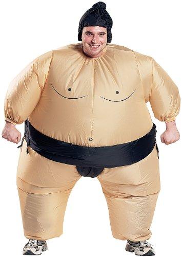Playtastic Ganzkörper-Kostüm: Selbstaufblasendes Kostüm Sumo-Ringer (Karnevalskostüm ()