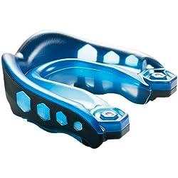 Shock Doctor Gel Max - Protección de boca de fútbol, tamaño adulto, color azul/negro