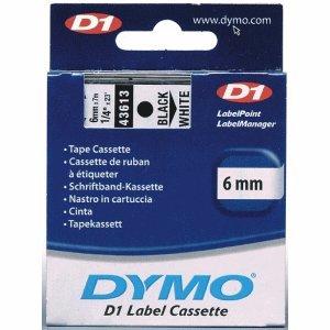 Dymo Etikettenband Dymo D1 6mm/7m schwarz/weiß