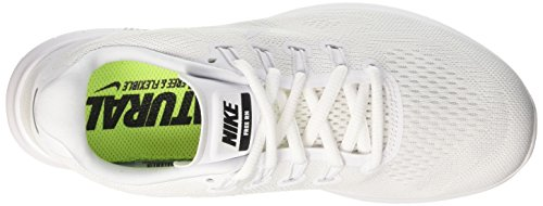 Nike Womens Free RN 2 Running Shoe, Chaussures de Fitness Femme Blanc (White/white-black-pure Platinum)