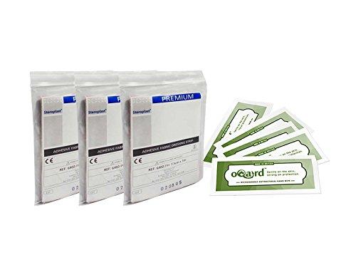 steroplast-premium-fabric-plaster-strip-elastic-75cm-x-1m-x3-with-oqard-antibacterial-wipes