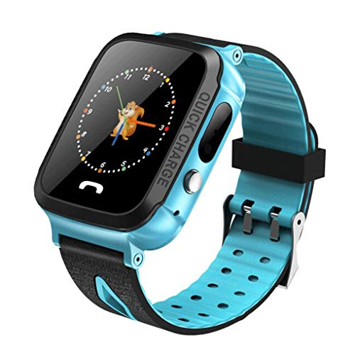 Kakiyi Russische Wasserdicht GPS-Telefon-Positioning-Kind-Kinder Smart Watch SOS Kids Safe SIM-Karten-Slot-Taschenlampe Armbanduhr