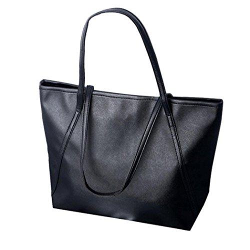 Oyedens Neue Art Und Weise Einfache Winter GroßE KapazitäT Leder Frauen Tasche Bote (Schwarz) (Neue Tasche Louis Vuitton)