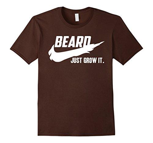 mens-beard-t-shirts-for-men-just-grow-it-herren-grosse-2xl-braun