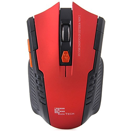 W42,4GHz 6D 2400dpi Kabellose Optische Gaming Maus mit erhalten rot rot -