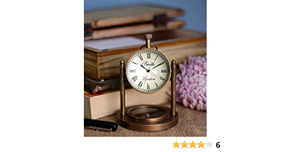 Keeratly Classic Vintage Antique Brass Table Clock
