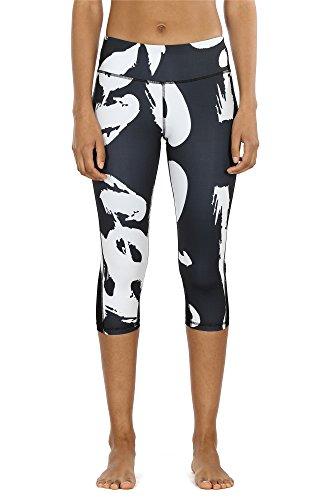 Mesh Leggings - 3/4 Sporthose kurz Training Tights Fitness Capri Yoga Pants (Han, S) ()