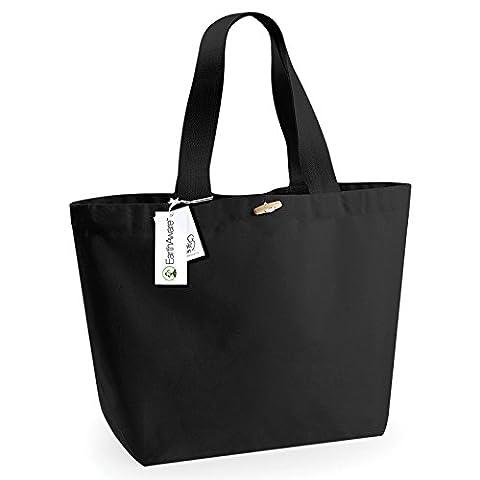 Westford Mill coton BIO , Cabas pour femme taille unique - noir - Taille unique