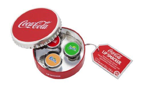 Lip Smacker, Coca Cola, Cofanetto rotondo con 3 lucidalabbra