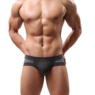 Ropa interior masculina Sexy Algodón Suave Impresión Respirable Transparente Estuche abultado talle bajo Calzoncillos boxer de hombres Pantalones cortos para hombres Bragas LMMVP