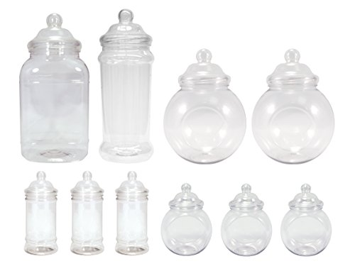 Britten & James - Surtido de 10 jarras de plástico vacías (diseño...