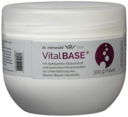 dr.reinwald VitalBASE mit Apfelpektin - Pflanzliches Basenpulver auf magenneutraler Citrat-Basis mit basischen Mineralien & Spurenelementen - Für eine gesunde Säure-Basen-Balance - 300g