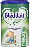 Blédina Blédilait Premium - Lait bébé 2ème âge en poudre de 6 à 12 mois 900 g - Pack de 6