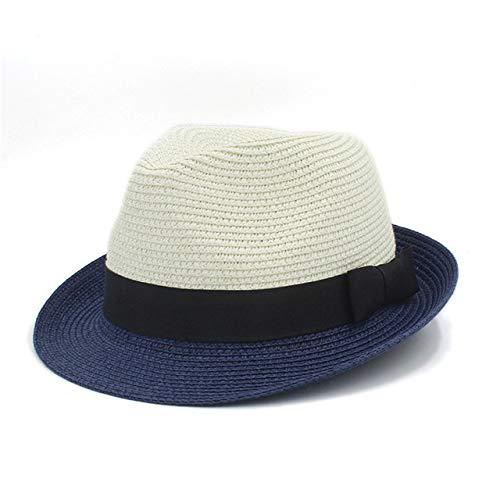 zlhcich Frauen Cowboyhüte Günstige Frauen Cowboyhüte G Farbe 9men Travel Beach Sonnenhut Elegante Dame Wide Brim Fascinator Panama Sunbonnet Sonnenhut Größe 56 58CMa