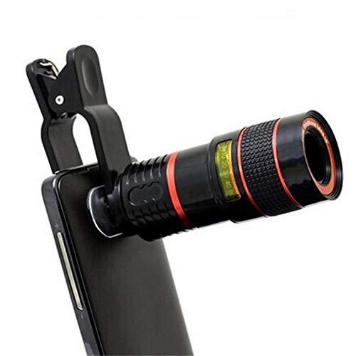 LYA X Kameraobjektive, Handy-Zoom Teleobjektiv Teleskop Foreign Gilt für Android, Ios Smartphone-Kamera-Objektiv Universal-Clip,b