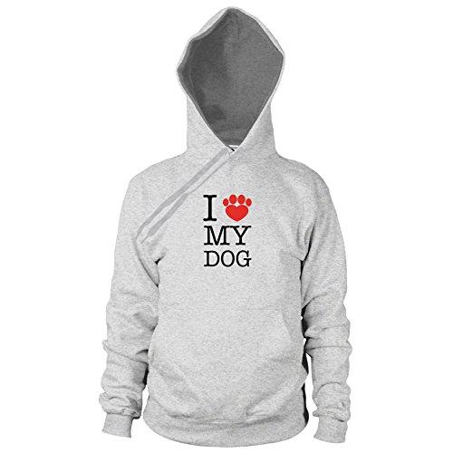 en Hooded Sweater, Größe: S, Farbe: grau meliert (Hundebesitzer Kostüme)