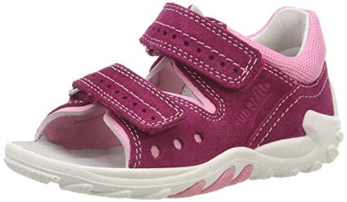 Superfit Baby Mädchen Flow Sandalen, Pink (Rot/Rosa 50), 19 EU