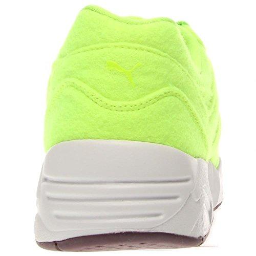 Puma R698 Bright Synthétique Baskets Fluro Green