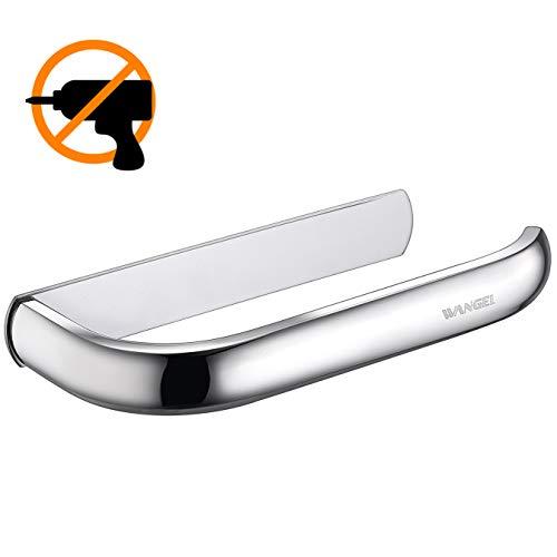 Wangel anello portasciugamani, porta carta igienica, colla brevettata + autoadesivo, acciaio inossidabile, finitura lucida