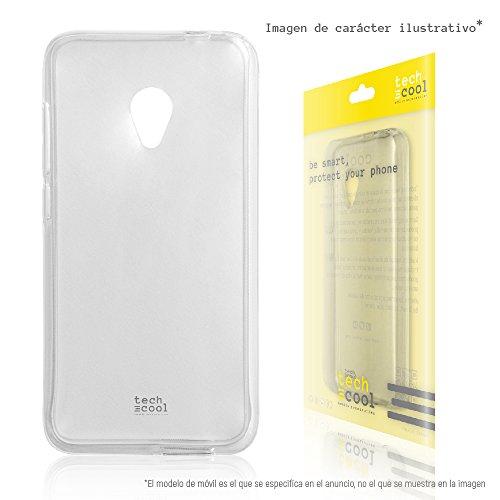 TechCool Alcatel U5 Hülle, SchutzHülle Premium Soft Flex TPU Silikon Transparent für Alcatel U5 l Case, Cover, Handy [Ultra Dünn 1,5mm] [Kratzfest] (Klar)
