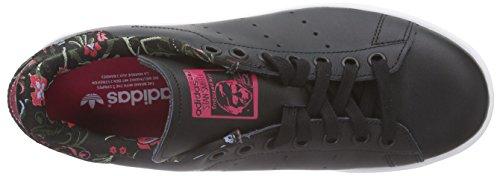 adidas Originals Stan Smith, Sneakers Basses femme Noir (Core Black/Vivid Berry S14)