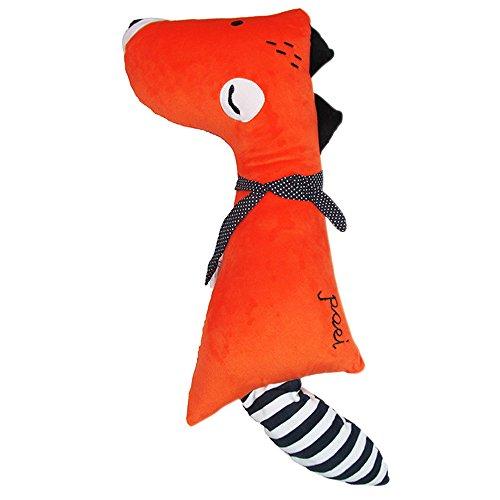 Fairylove Netter Fuchs Mit Waschbär Schwanz Puppe Auto Sicherheitsgurt Kissen Autositz Spielzeug Strap Gürtel Kissen Spielzeug für Kinder, verstellbare Kissen Pad Fahrzeug Auto Sicherheitsgurt Sitz Haustiere Kissen (Baby Autositz Doll)