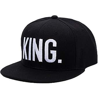 Minetom Donna Uomo Couple Ricamo Lettera King Queen Casual Chic Hip-Hop  Baseball Cap Basic Berretto da Cappello SnapBack Berretto Snapback Hat  Cappelli ... 25d39e214d6e