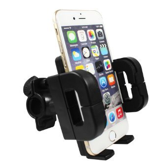 Bike & Motorcycle Mount Holder,Qcute Easy One Touch Universal Cell Phone Bicycle Handlebar & Motorcycle Holder Cradle for any Smartphone & GPS - Universal Mountain & Road Bicycle Handlebar Cradle Holder iPhone 6 6(+) 6S 6S Pl