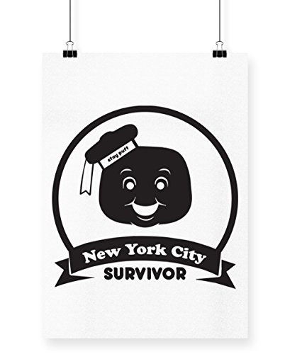 hippowarehouse New York City Marshmallow Survivor Poster Druck Wall Art Design A4 weiß