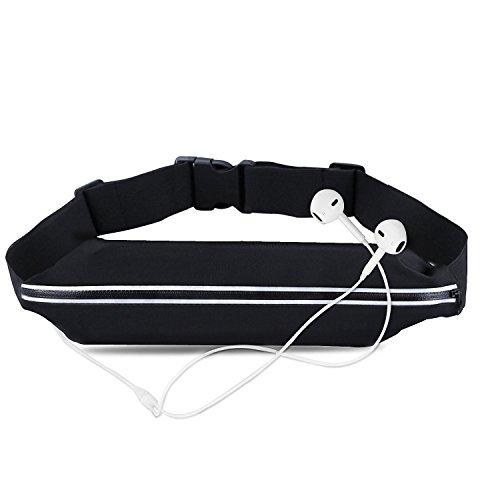 Sport Hüfttasche Gürteltasche elastische Bauchtasche mit Kopfhöreröffnung für Handy - für Reise und Sport entwickelt