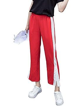 Pantalones Casual Mujer Suelto Deportivos Cómodo Ancha Trousers Pants