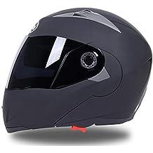 Qianliuk Casco de la Cara Completa Seguro Flip up Moto Motocross Moto Casco Racing Motocross con