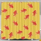 errterfte Goldfish Art Shower Curtain,Waterproof Polyester Shower Curtain Sets 60 * 72 inch