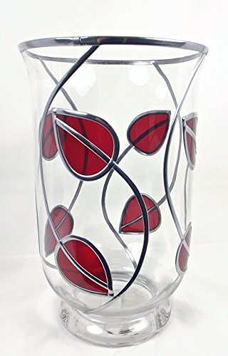 Large Rennie Mackintosh Style Hurricane Candle/flower Glass Vase. With Art Nouveau / Art Deco Influence An Ideal Special Present Or House Warming Gift