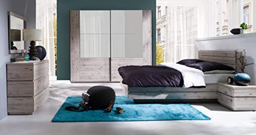 Amazon Marke -Movian Saale Großes Doppelbett, 195 x 97 x 208cm, Wellington-Eiche Optik